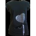 Talya Design by Sonja Jug - Black heart 4 - T-shirts - 150,00kn  ~ $26.34