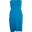 FineBrandShop Haljine -  Strapless Seamless Blue Smocking Tube Dress