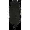 Tight black breathable vest female zippe - BODYSUIT