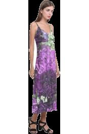 V-Neck Open Fork Long Dress - Pasarela
