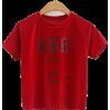 Velvet crew neck t-shirt - TOP