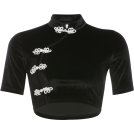 FECLOTHING Shirts -  Vintage Chinese style buckle top