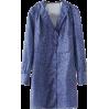Vintage Deep V-neck Cute Lace Collar Lon - DRESS