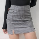 FECLOTHING My look -  Vintage black and white plaid high waist