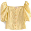 FECLOTHING T-shirts -  Vintage checkered slinky square collar p