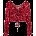 feclothing - Wave Print Long Sleeve with Thin Shirt - Shirts - $25.99
