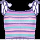 FECLOTHING Shirts -  Wild Stripe Color Stripe Tight Slim Slin