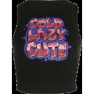 FECLOTHING T-shirts -  Wild black cartoon letter print top
