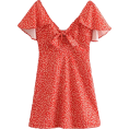 FECLOTHING Dresses -  Wild bowknot flower print dress