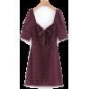 Wild lace-up lace dress - DRESS