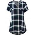 BBX Lephsnt Shirts -  Women's Zip V Neck Short Sleeve/Sleeveless Casual Blouse Tunic Shirt