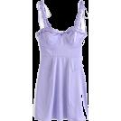 FECLOTHING Dresses -  Wooden ear side three-dimensional steel