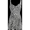Zebra print slim fashion dress - DRESS