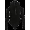Zipper high collar bodysuit - BODYSUIT