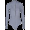 Zipper long sleeve pits jumpsuit knit bo - BODYSUIT