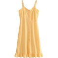 feclothing -  front buckle wooden ear skirt dress - Dresses - $27.99