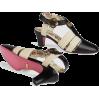 gucci Leather mid-heel t-strap sandal - Vespagirl