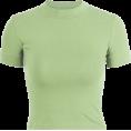 feclothing - half neck high waist short sleeve - T-shirts - $15.99