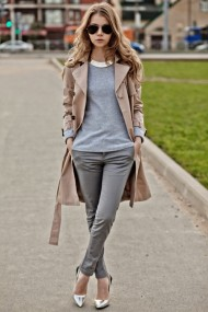 street style - trench coat