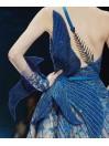 ziadnakad blue gown - Black tie