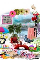 Creative beach party