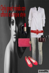 ...casual red...