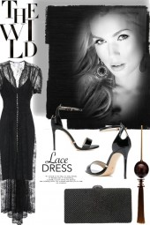 Retro lace dress