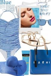 All blue at the beach