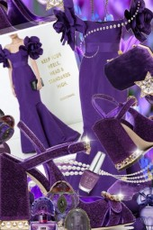 Purple La Bambah Mermaid Gown