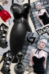 Deadly Dames Black Goth Wiggle Dress