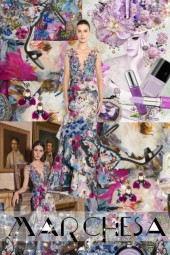 Marchesa  Embellished Floral Organza Gown