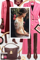 Burgundy and Pink Top Fall Trends