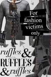 Black Leather Skirt Ruffle Rebellion