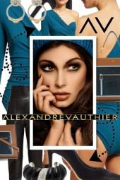 Alexandre Vauthier Teal Asymmetric Bodysuit