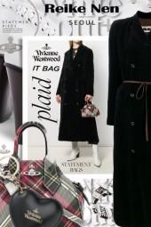 Vivienne Westwood Tartan Plaid Orb Tote Bag
