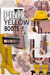 Pink Plaid and Yellow Boots Unexpected Fall Trends