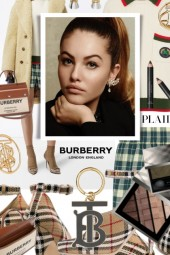 How to wear Burberry Plaid Shorts and Pumps
