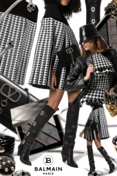 Balmain Houndstooth Pleated Cape Hot Trends