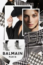 How to Wear Houndstooth Booties and Clutch