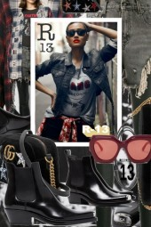 Gucci Street Style Star Bag and R13 Contrast Jeans