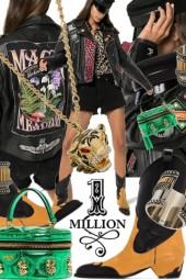 Rockins Magic Millions Leather Biker Jacket