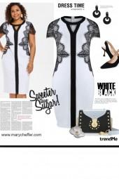 Dress Time - White/Black