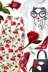 Rose Print❤️ Date Night❤️