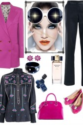 HOW TO WEAR FUCSIA BAG AND SHOES