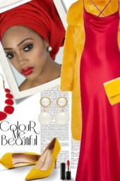 Colour Me Beautiful in Yellow and Red
