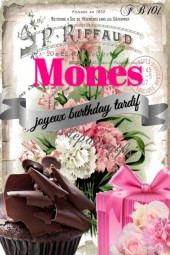 Mones....Happy Birthday Belated Dear