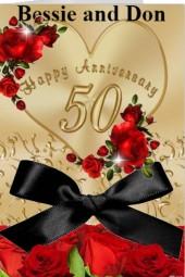 Happy Anniversary Bessie and Don