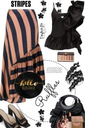 Hello Beautiful Stripes and Ruffles