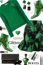 Sparkle Glitter Green