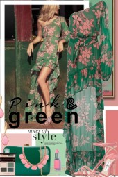 Pink and Green Notes of Style